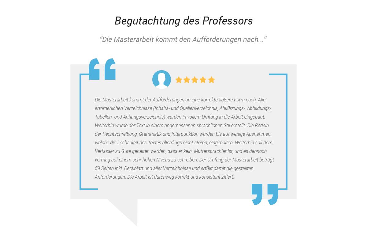 Begutachtung des Professors. Akadem-Ghostwriter.de